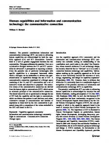 Human capabilities and information and communication technology ...