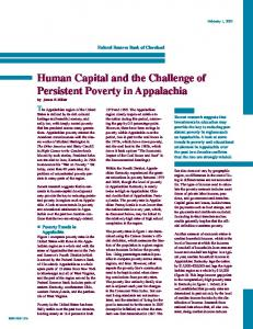 Human Capital and the Challenge of Persistent Poverty in ... - Eric