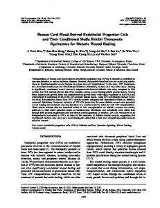 Human Cord Blood-Derived Endothelial Progenitor ... - SAGE Journals