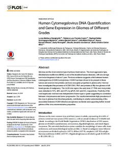 Human Cytomegalovirus DNA Quantification and Gene ... - PLOS