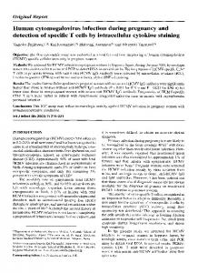 Human cytomegalovirus infection during pregnancy and detection of ...