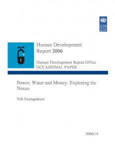 Human Development Report 2006 - Human Development Reports