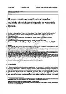 Human emotion classification based on multiple physiological signals ...