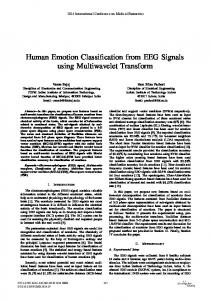 Human Emotion Classification from EEG Signals ...