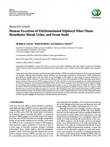Human Excretion of Polybrominated Diphenyl Ether Flame Retardants ...