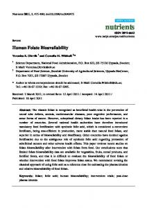 Human Folate Bioavailability - MDPI