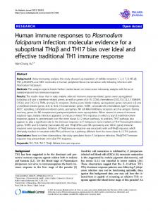 Human immune responses to Plasmodium falciparum infection ...