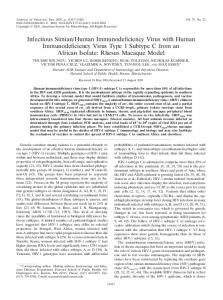 Human Immunodeficiency Virus ... - Journal of Virology