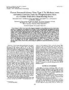 Human Immunodeficiency Virus Type 1 Tat-Mediated ... - NCBI - NIH