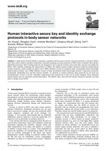 Human interactive secure key and identity exchange ... - IEEE Xplore