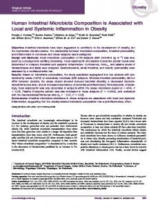 Human intestinal microbiota composition is ... - Wiley Online Library