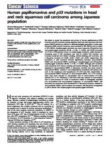 Human papillomavirus and p53 mutations in ... - Wiley Online Library
