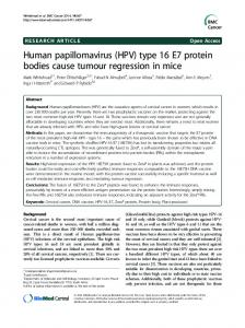Human papillomavirus (HPV) - BioMed Central