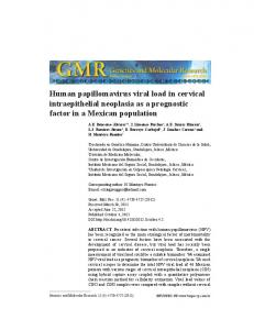 Human papillomavirus viral load in cervical intraepithelial neoplasia ...