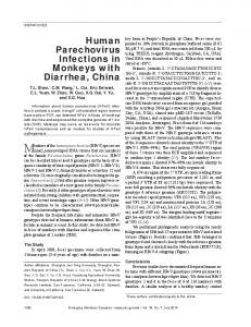 Human Parechovirus Infections in Monkeys with Diarrhea, China - CDC