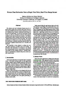 Human Pose Estimation from a Single View Point, Real ... - CiteSeerX