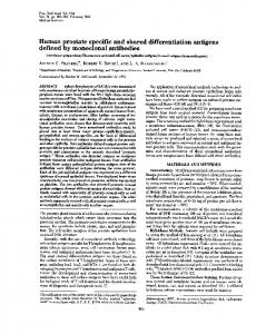 Human prostate specific and shared differentiation antigens defined ...
