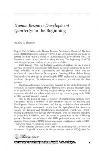 Human Resource Development Quarterly - Wiley Online Library