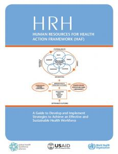 Human ResouRces foR HealtH action fRamewoRk (Haf)
