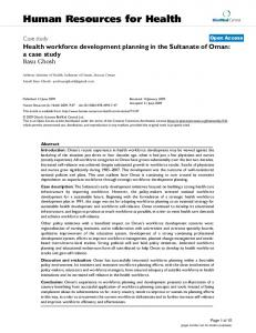 Human Resources for Health - BioMedSearch