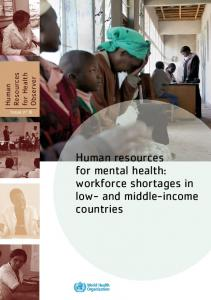 Human resources for mental health - World Health Organization