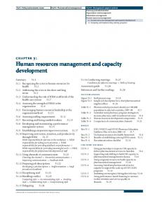 Human resources management and capacity development