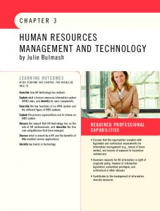 HUMAN RESOURCES MANAGEMENT AND TECHNOLOGY