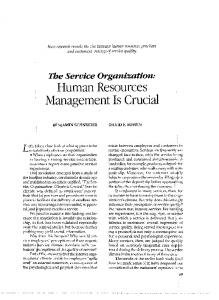 Human Resources Management Is Crucial
