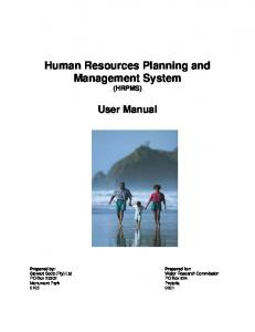Human Resources Planning and Management System - Water ...