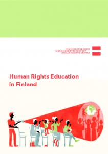 Human Rights Education in Finland - Ihmisoikeuskeskus