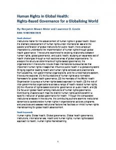 Human Rights in Global Health: Rights-Based ...
