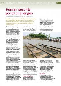 Human security policy challenges - Forced Migration Review