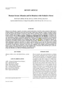 Human Serum Albumin and Its Relation with