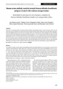 Human serum antibody reactivity towards Paracoccidioides ... - SciELO