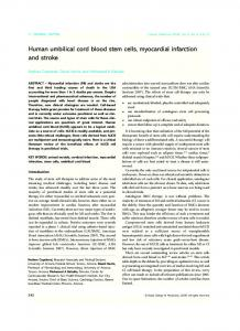 Human umbilical cord blood stem cells, myocardial ... - Clinical Medicine