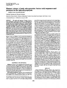 Human y-trace, a basic microprotein: Amino acid ... - Europe PMC