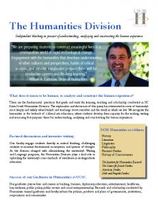Humanities Division Overview