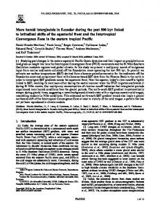 humid interglacials in Ecuador during the past ... - Wiley Online Library