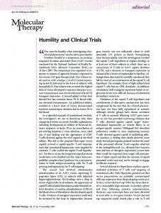 Humility and Clinical Trials