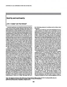 Humility and nonlinearity
