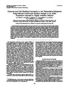Humoral and Cell-Mediated Immunity to the