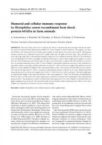 Humoral and cellular immune response to Histophilus somni ...