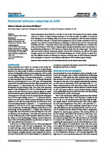 Humoral immune response to AAV - ScienceOpen
