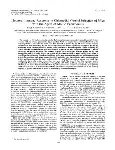 Humoral Immune Response to Chlamydial Genital Infection of Mice ...