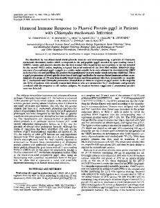 Humoral Immune Response to Plasmid Protein pgp3 in Patients with ...