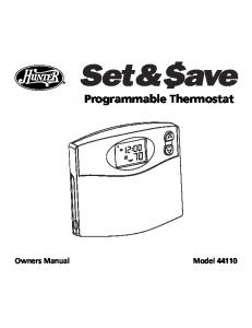 Hunter thermostat