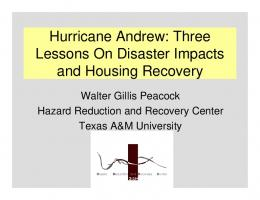 Hurricane Andrew: Three Lessons On Disaster
