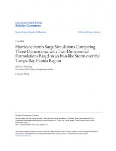 Hurricane Storm Surge Simulations Comparing Three ...