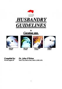 husbandry guidelines
