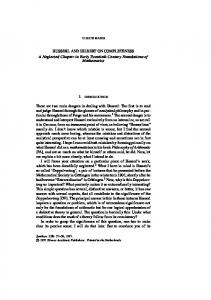 husserl and hilbert on completeness - Springer Link